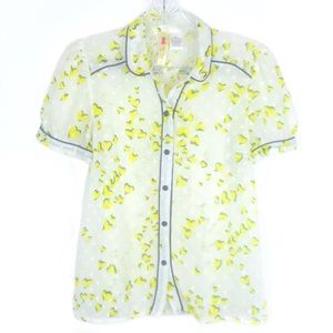 Alice Moon by Moon Collection Yellow Hearts Blouse